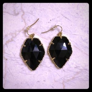 Kendra Scott Black/Gold Earrings